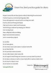 Green Fins best practices (list)